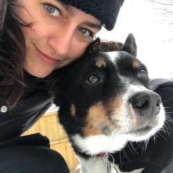 Anne Pinkerton and her dog